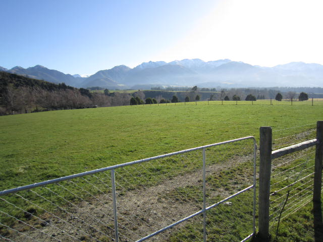 View of Inland Kaikoura Ranges from Camping Ground